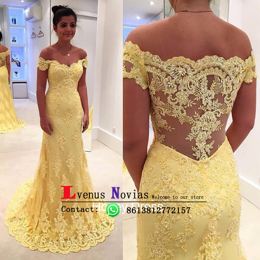 Aliexpress Com Buy Simple Elegant See Through Lace Part: Elegant Black Girl Prom Dress Long Sexy Off The Shoulder