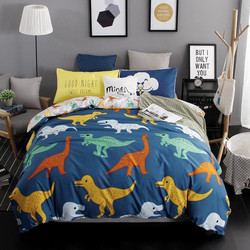 Summer bedding 2018 duvet cover set dinosaur bedding set duvet cover AB side bed linen set flat sheet queen king size bedclothes
