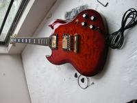 China guitar factory custom Top quality New Electric Guitar Large pattern Sg Guitar Free shipping 7yue15