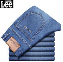 CONNER LEE 2016 neue Modemarke jeans männer Mid taille Gerade skinny jeans herren Casual denim hosen jean männer slim fit jeans