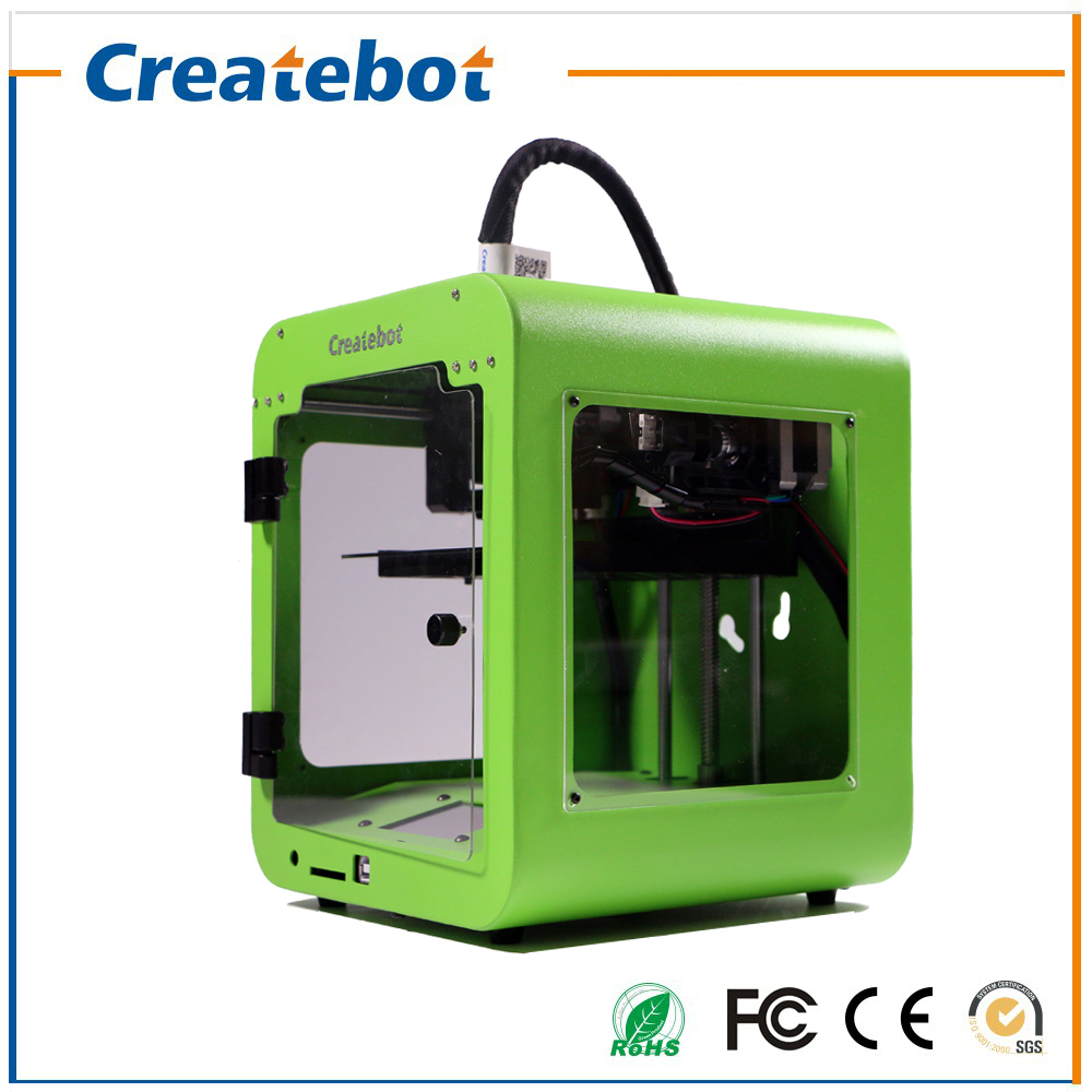 FDM Desktop Tiny 3D Printer Createbot Super Mini 3D Printer Gifts for Children and Kids and Student Six Months Warranty high precision createbot super mini 3d printer no assembly required metal frame impresora 3d 1roll filament 1gb sd card gift