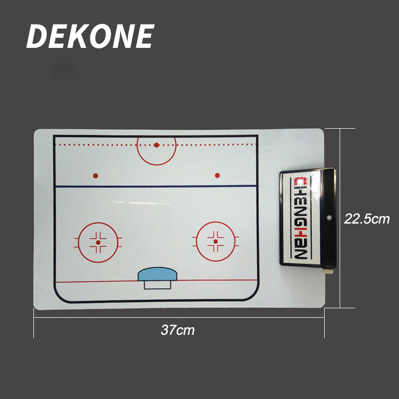 Hockey Coach Clip Board  White Dry Erase Marker With Eraser Quick Dry PVC For Hockey Coach Train Ice Roller Equipment