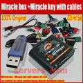 2016 Hot Sale Original Miracle box +Miracle key with cables (V2.33A  hot update) for china mobile phones Unlock+Repairing unlock