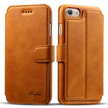 Hot!!! Fashion Business Style Calf Pattern Leather Flip Wallet Case for iPhone 7 Plus/7/6/6s Phone Cover with Holder Card Slots