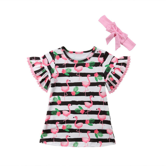 752f355c8 1 5T Baby Girl Clothes 2 Piece Set Kids Girl Dress Set Striped ...