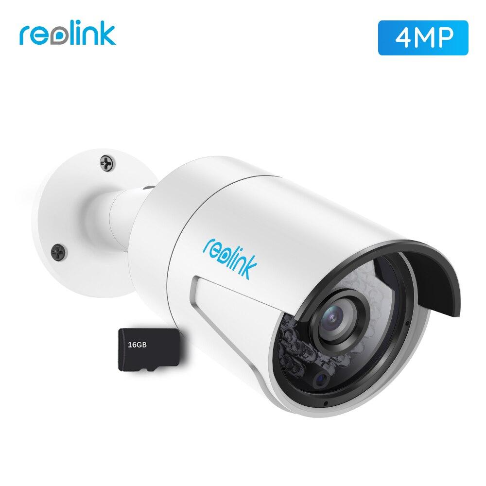 Reolink IP Kamera 4MP Nachtsicht 16 gb SD Card Bewegungs Erkennung Aufnahme PoE Gewehrkugel Sicherheit Infrarot Outdoor Cam RLC-410S