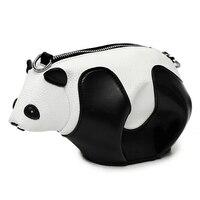 Mulheres Panda Moda Crianças Bolsa 2017 Mais Novo Elegante Legal panda gigante de Couro Preto PU Bolsa Venda Quente Do Sexo Feminino bolsa de ombro