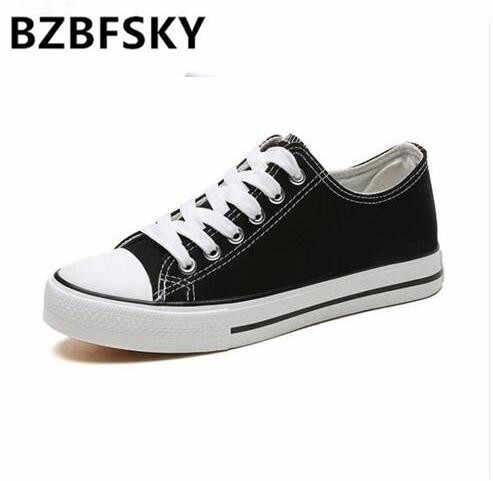 4d80efd4296 Women Shoes Black Canvas Shoes Tenis Feminino Classic Fashion Casual Ladies  Shoes Lace Up Star White Red Flats Vulcanized Shoes