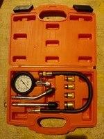 10pcs Petrol Engine Compression Tester Cylinder Pressure Gauge Meter Test Leakage Diagnostic Diagnosis Tool Set 300psi