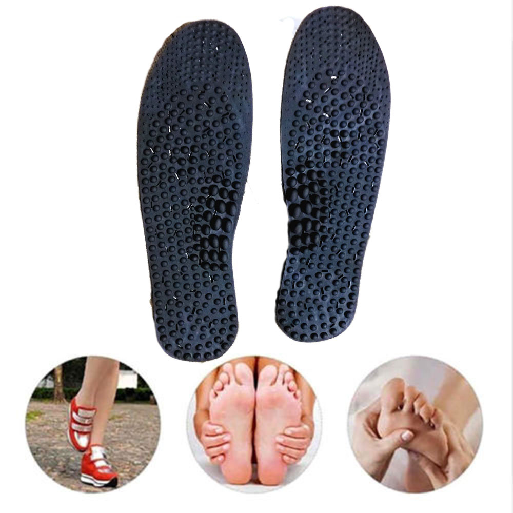 1 Pair New Health Massage Foot Negative Ion Therapy Insoles Shoe/Boots Pads For Men Women Non-magnetic