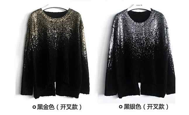 Poncho Sweater 2019 Black Patchwork Women Sweater Loose Pullovers Batwing Long Sleeve Knitted Pull Femme Women Retro Wear A33
