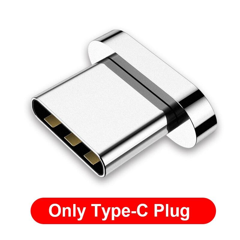 GETIHU 2.4A быстрое зарядное устройство 3,0 Магнитный кабель для iPhone XS XR X 7 6 Быстрый Micro usb type C магнит type-C телефонный кабель для samsung - Цвет: For Type C Plug
