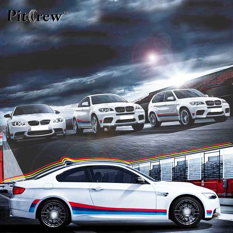 Stiker Mobil pribadi Keren Garis Warna-warni Mobil Styling Decals Mobil Eksterior Aksesoris untuk Sepeda Motor Mobil Seluruh Tubuh