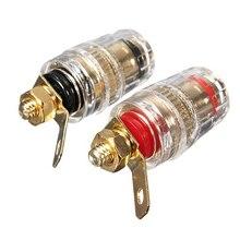 Delicate Banana Plug For DIY 2Pcs Amplifier Speaker Terminal Binding Post 4mm Banana Plug Jack Connector 32mm  HR