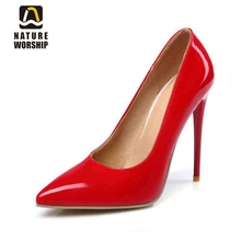 Hot sales women shoes fashion pointed toe Mature sexy Party pumps Spring/Autumn 12cm 10cm high thin heels Elegant Concise pumps