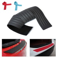 1pc New Rubber Rear Guard Bumper Protective Trim Cover W Adhesion Protector For VW Volvo Benz