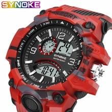 SYNOKE горячие модные мужские часы цифровой светодиодный водонепроницаемый военный человек часы спортивные часы электронные часы для бега наручные часы