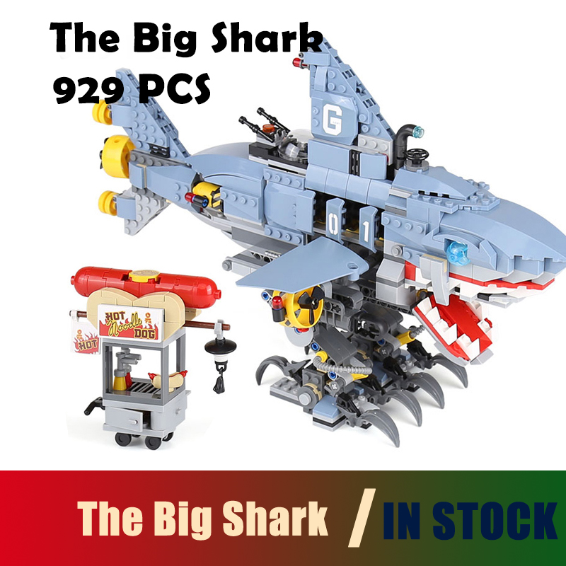 Compatible with lego Super heroes 06067 929Pcs The Big Shark Set Model Building Blocks toys 70656 Educational DIY toys hobbies