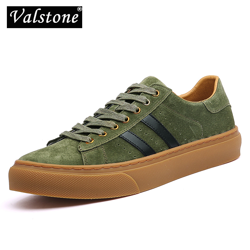 Valstone luxury genuine leather shoes for Men Quality sneakers breathable natural pig skin casual shoes Vulcanized