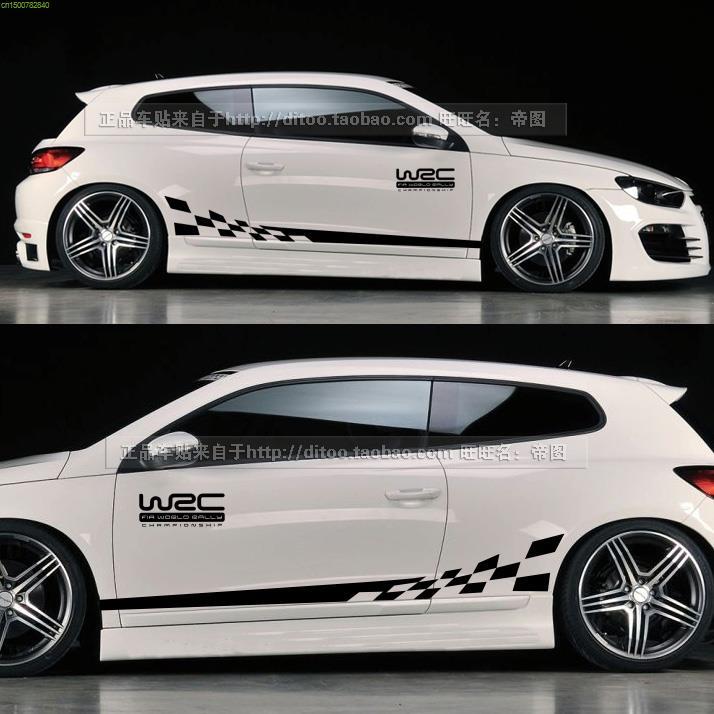 WRC Style Grid Flag Decoration Design Car Styling Car Whole Body - Car sticker design