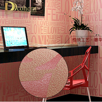 6 Color European Contemporary Art Deco Flocking Letter Wallpaper 0 53 10m Size Wall Paper Roll