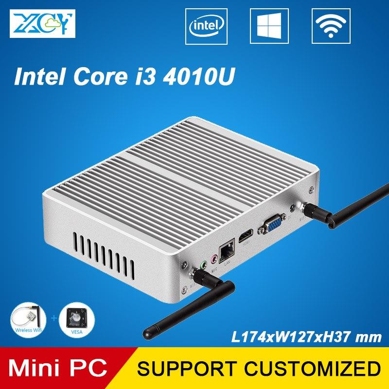 XCY Mini PC Core i3 4010 4G RAM 320G SSD Mini Compus