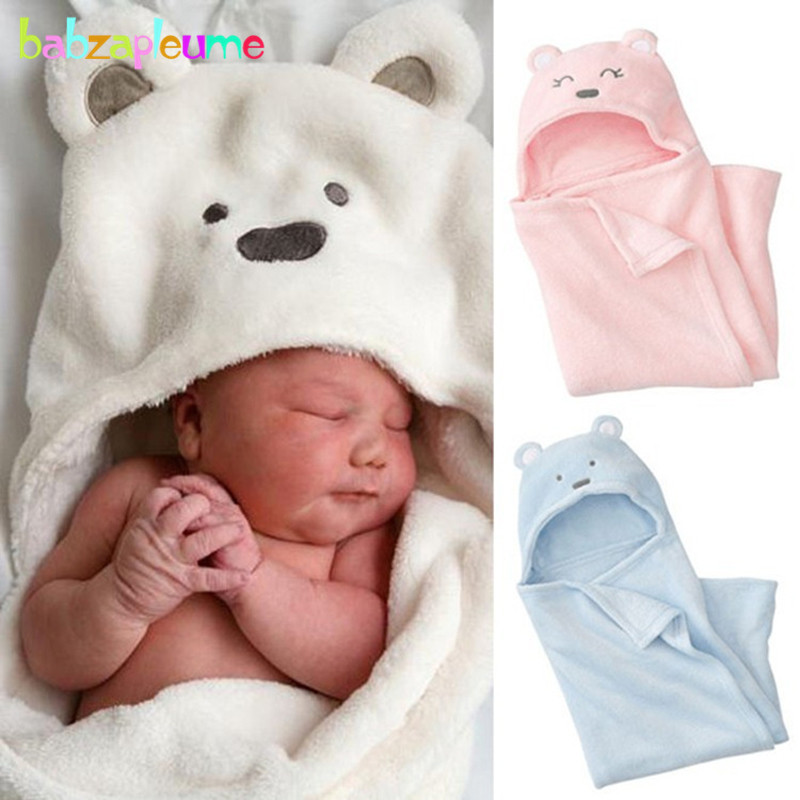97 72CM Newborn Photography Props Soft Fleece Wrap For Baby Bedding Swaddle Quilt Cartoon Cute Warm