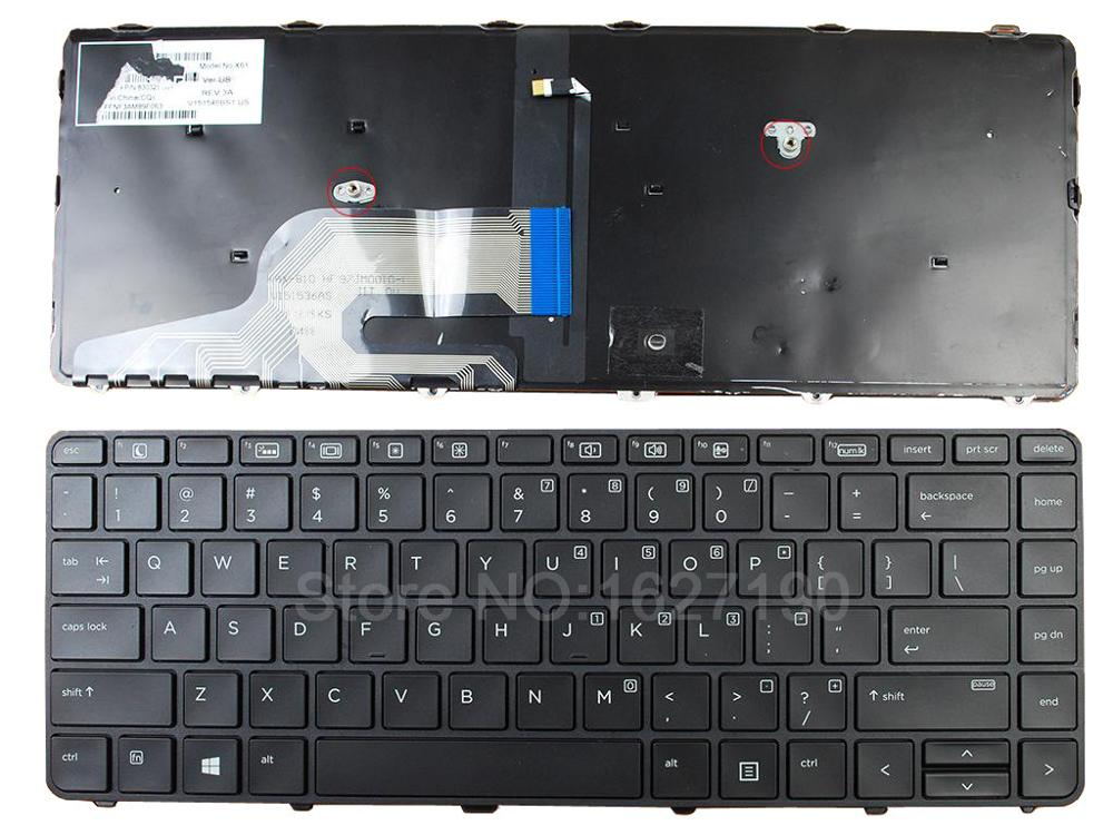CIES Trading Co.,Ltd. New US Keyboard for HP 430 G3 BLACK Frame BLACK(Backlit,Pulled WIN8) Repair Replacement Notebook/Laptop keyboards