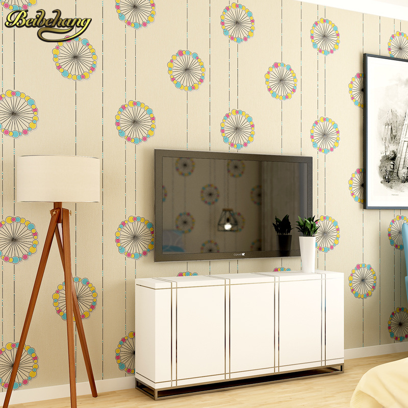 beibehang Colorful circle TV Background 3D flooring Wall Paper Mural Rolls Photo Wallpaper for Wall 3 d Hotel Livingroom Bedroom lavender windmill natural landscape vintage 3d room photo wallpaper for 3d livingroom wall paper prints kids wall mural rolls