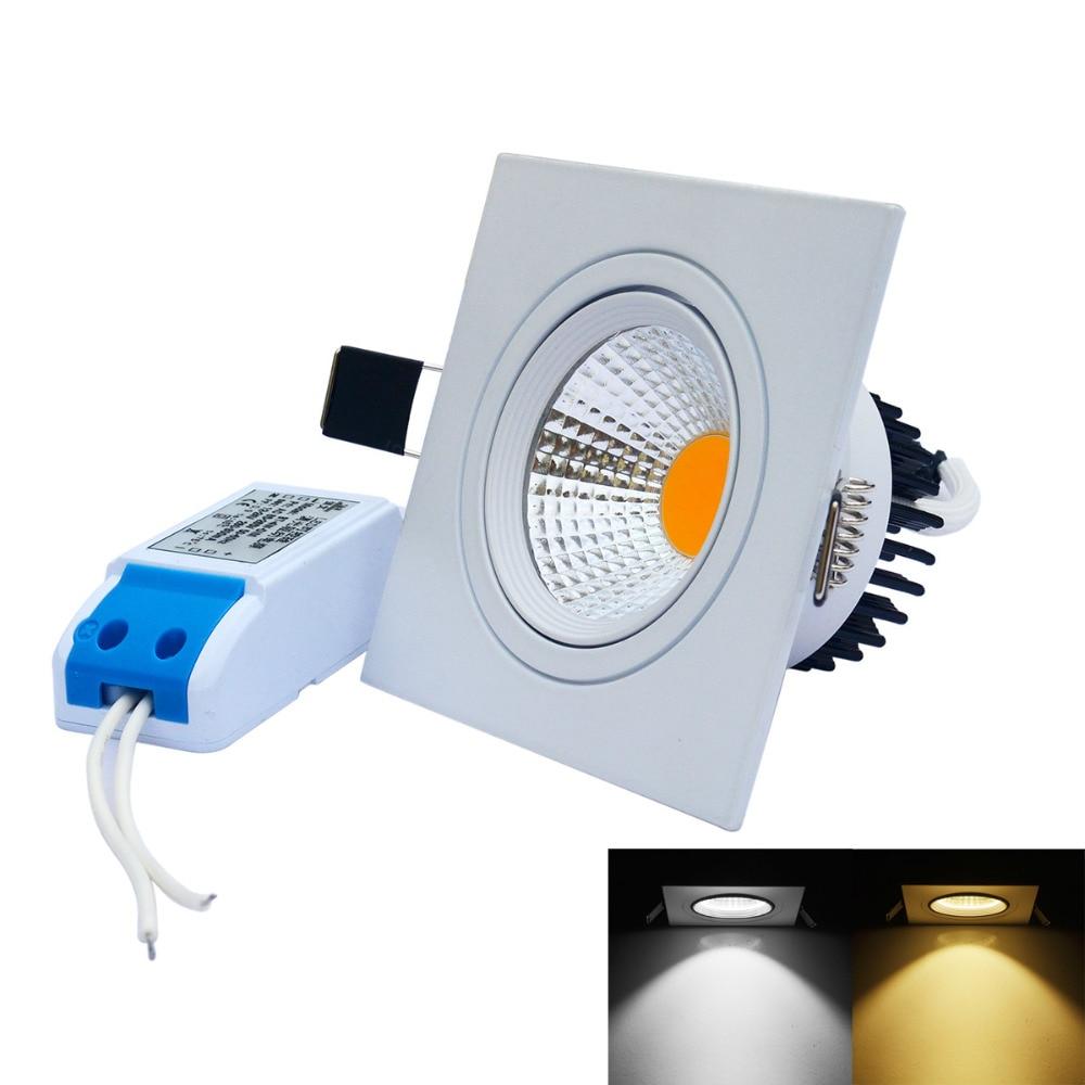 J & W 6pcs / lot Dimmable Αντιθαμβωτικό COB LED - Εσωτερικός φωτισμός