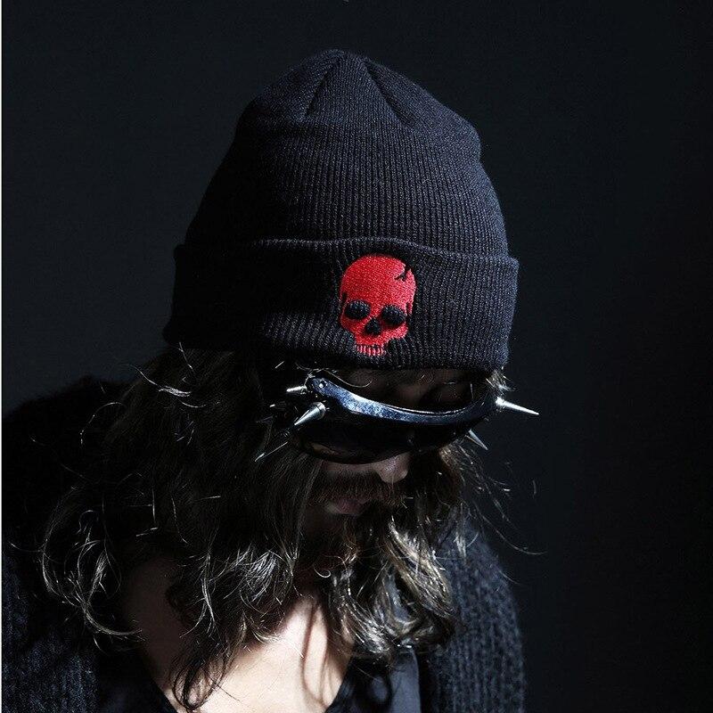 Winter Hat Beanies Skullies Knitted Hat Winter Hats Punk Embroidered Skulls Beanies Warm Hip-Hop Cap Christmas Gift