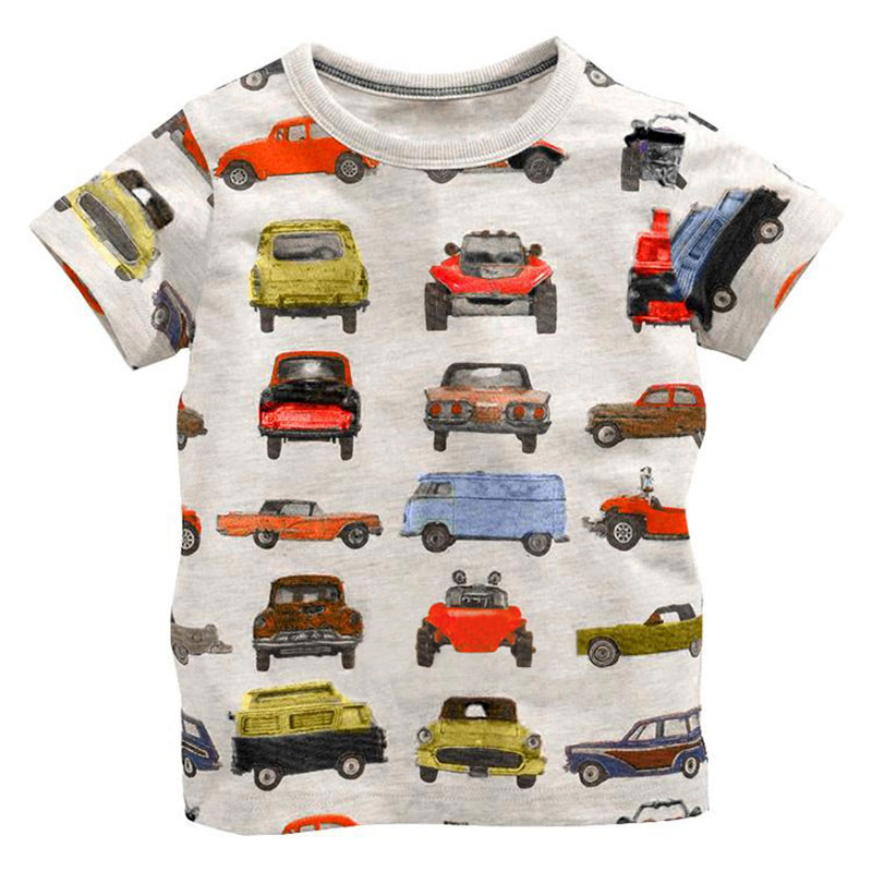Little Boy Girl Summer Shirt Children T Shirt Boys Girls T-shirt Baby Clothing Cotton Tees Cartoon Clothes 18M-6T Hot Selling