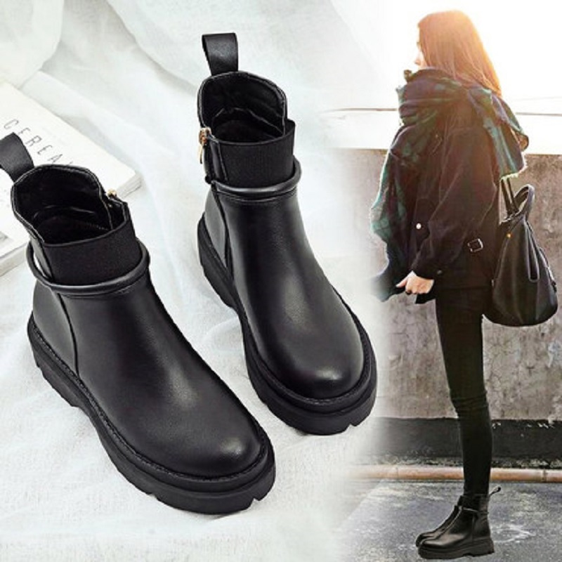 Martin bottes femme angleterre bottes courtes 2018 nouvelles chaussures pour femmes vibrantes épaisses bottes courtes femmes