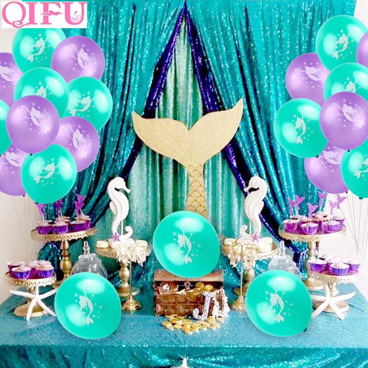 Qifu Pequeña Sirena Globo Globos De Fiesta Cumpleaños Fiesta