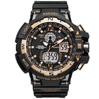 Super Cool Gold Sport Watch Men G Style Clock Male LED Analog Quartz Wrist Watches Men