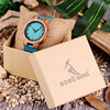 BOBO BIRD Lovers' Watches Women Wooden Men Watch Turquoise Blue Timepieces in Gift Box Relogio Masculino Drop Shipping W-C28 5