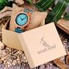 BOBO BIRD Lovers' Watches Women Wooden Men Watch Turquoise Blue Timepieces in Gift Box Relogio Masculino Drop Shipping W-C28 5
