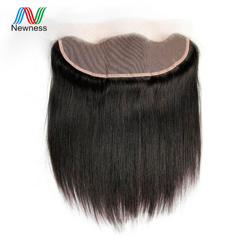 Newness Hair Ear to Ear Lace Frontal Closure 13*4 Free Part With Baby Hair Pre Plucked Brazilian Straight Human Virgin Hair