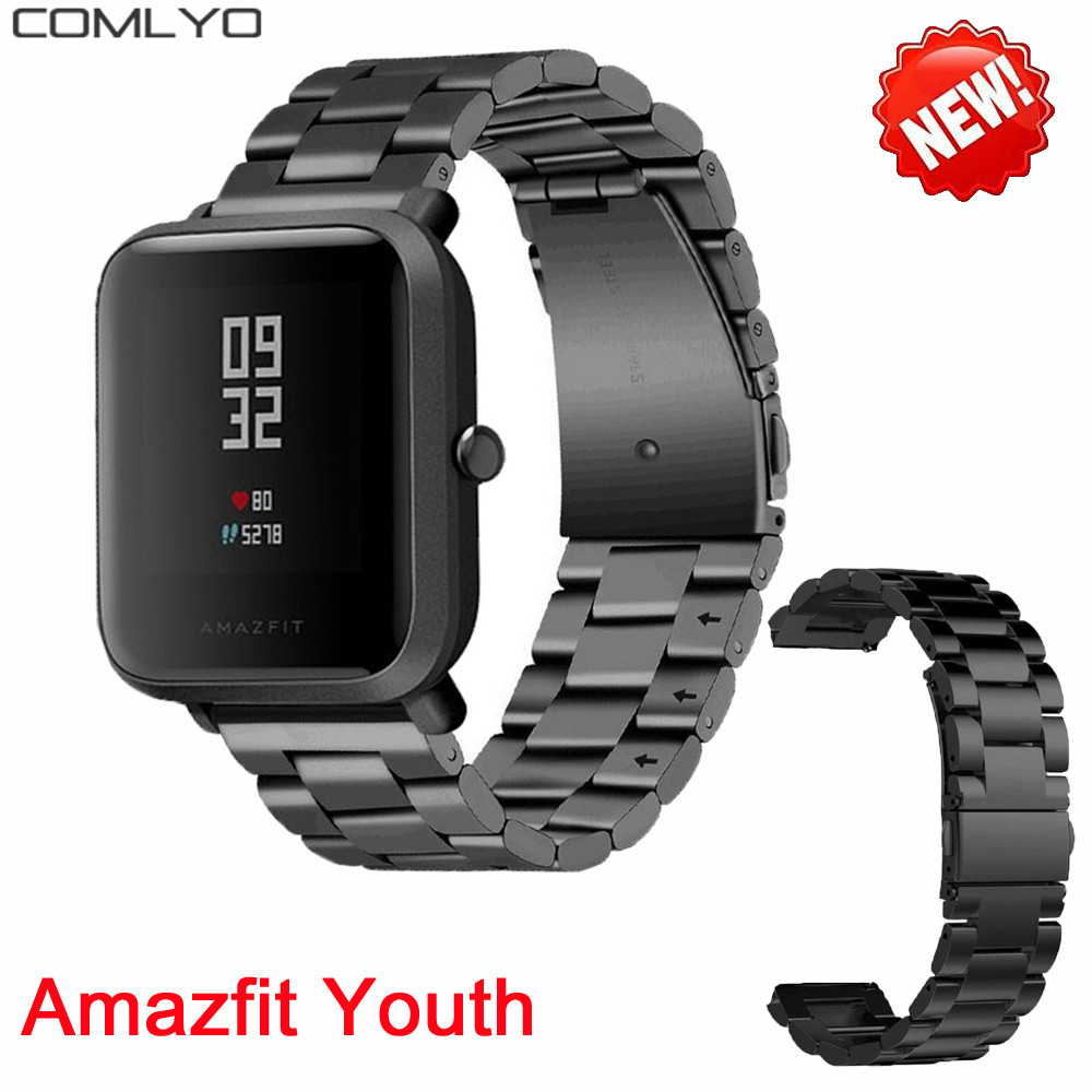 New Metal Stainless Steel Wrist For Xiaomi Huami Amazfit Smart Watch Youth Edition Bip Bit Pace