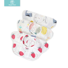 Happyflute 3 шт./лот хлопковая бандана нагрудник для кормления халат для младенцев слюнявчик полотенце детские принадлежности для еды мягкие детские вещи