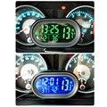 Venta caliente de la CC 12 V-24 V LED Iluminado Digital Termómetro Digital Car Auto Pantalla de Temperatura Dual medidor Probador