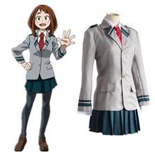Ochako Uraraka костюмы для косплея школьная форма японская аниме My Hero Academia одежда (верх + юбки + галстук)