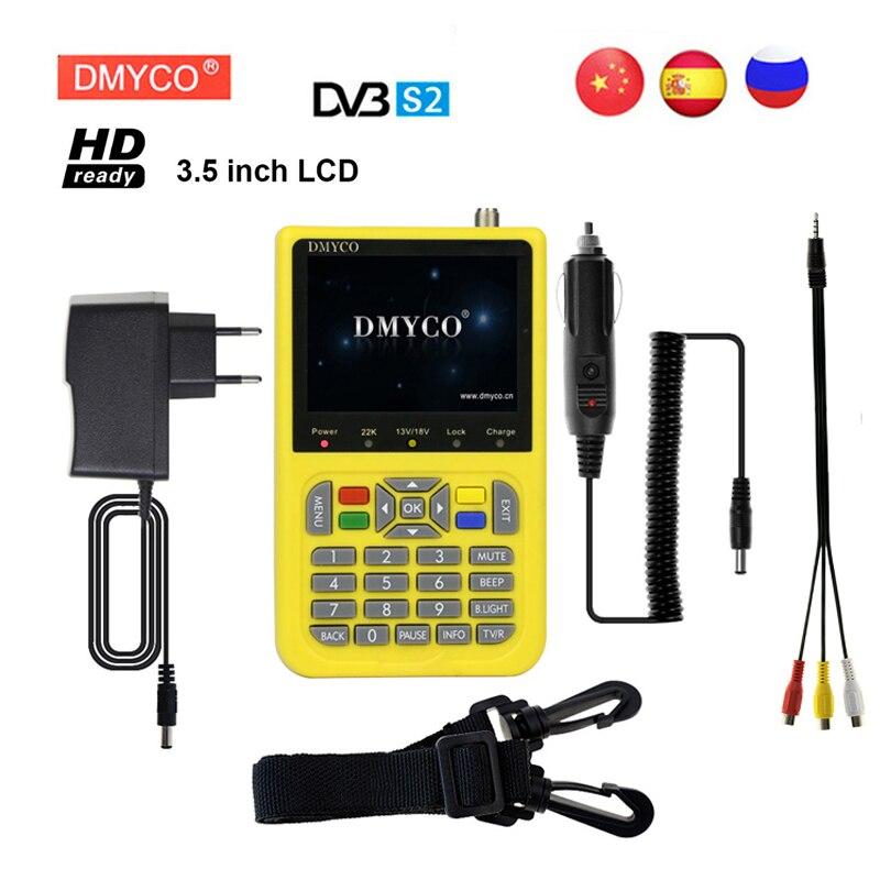 DMYCO DVB S/S2 Satelite Finder HD Finder Digital TV Satfinder HD MPEG 4 FTA DVB S2 3.5 inch LCD Screen Display Sat Finder Meter