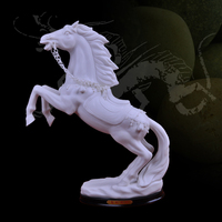 Ceramic horse white Office of the success of pottery decoration Feng Shui ornaments ceramic gifts