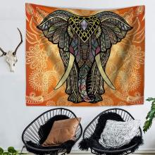 Elephant Mandala printed tapestry exotic wall carpet India ethnic home boho decor blanket tapiz pared tela beach towels