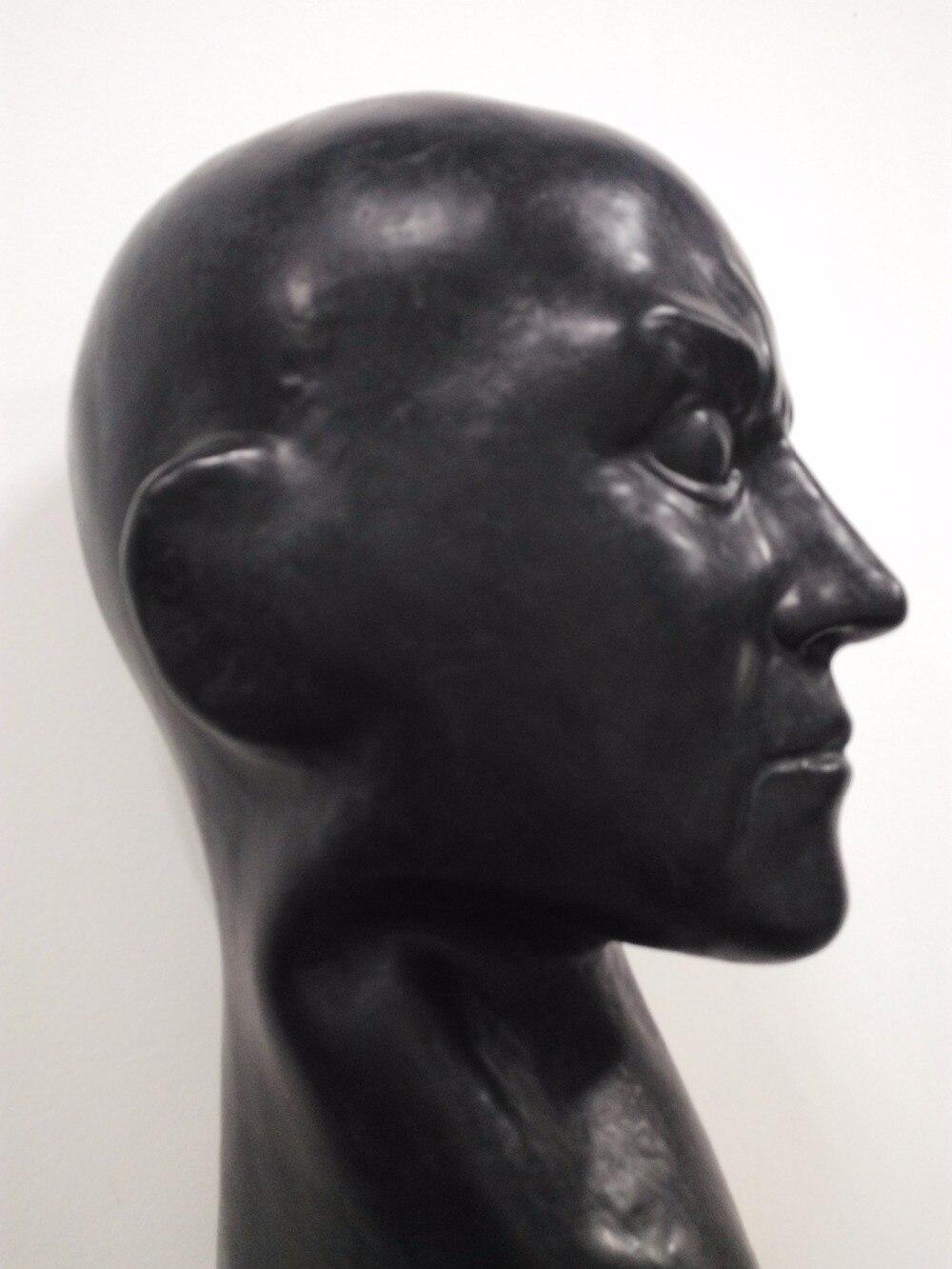 (LS08) fétiche Latex pleine tête humain anatomique mâle visage latex homme masque SM étouffant caoutchouc capuche SM étouffant masque fétiche porter