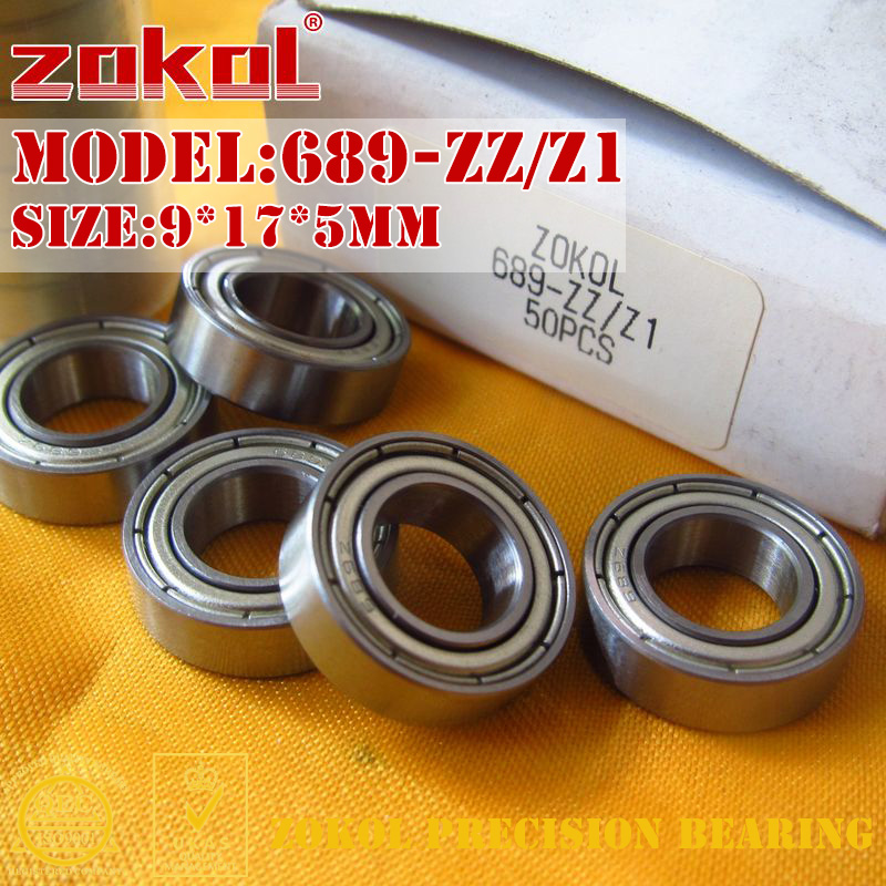 ZOKOL 689-ZZ Z1 bearing 689 ZZ Z1 Miniature 689ZZ Z1 Deep Groove ball bearing 9*17*5mm sinix 689