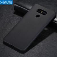 X Level Ultra Thin Tpu Phone Case For LG G6 Matte Silky Back Cover For LG