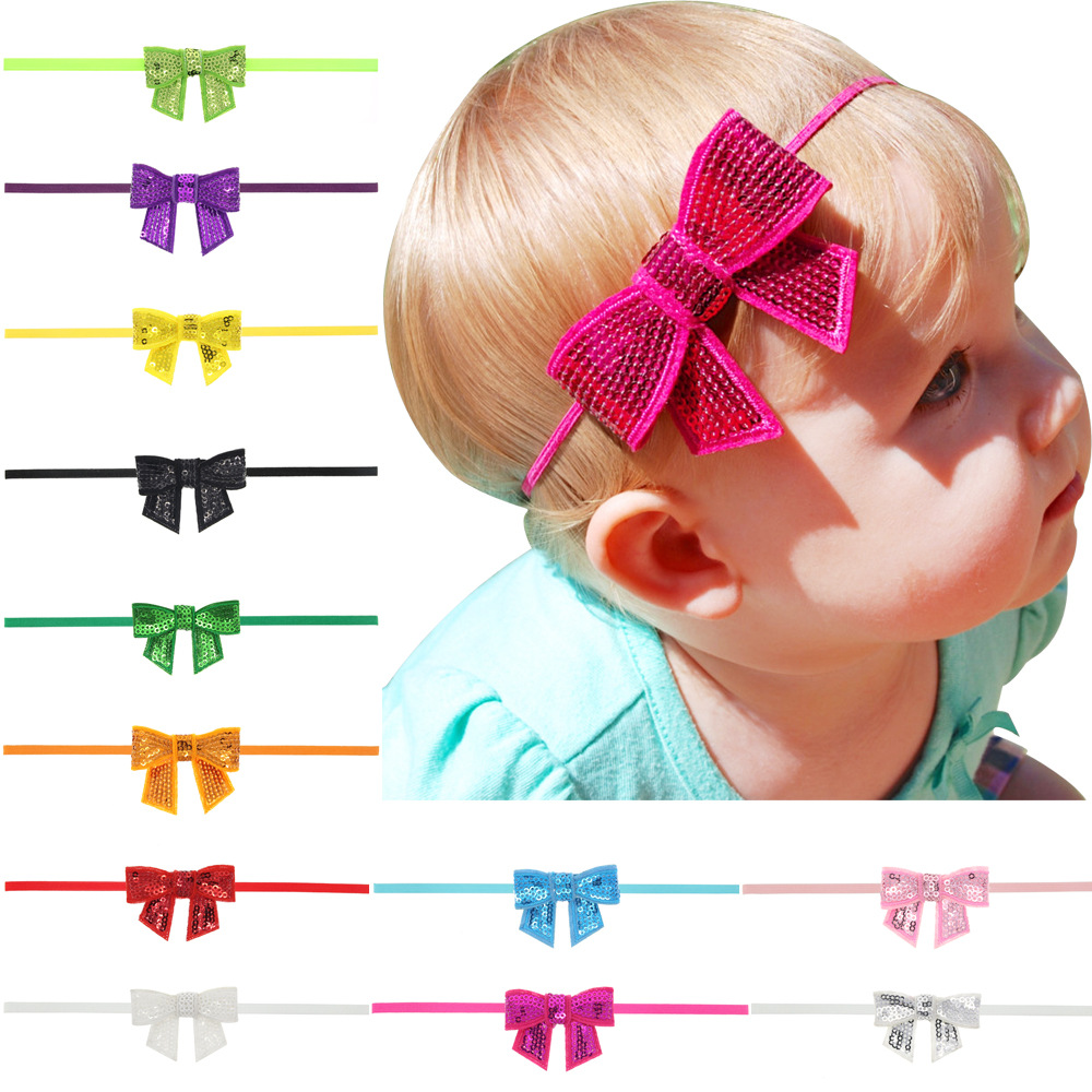 1 Piece Lytwtw's Children Girls Baby Newborn Hair Rope Headband Headwear Headwrap Fashion Bow Knot Hair Head Band Accessories 3pcs lot lovely printed floral fabric bow headband striped dots knot elastic nylon hair band for girl children headwear
