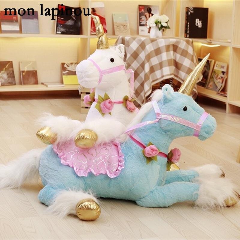 85 cm licorne en peluche jouets en peluche grand animal doux poupée licorne cheval enfants jouets de haute qualité anniversaire cadeau de noël pour fille/elle
